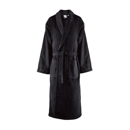 Handdoeken Discounter Badjas - Zwart - Velours
