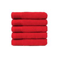 Handdoek - Rood - 50x100 cm - Set van 5