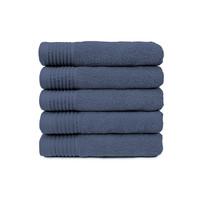 Handdoek - Denim - 50x100 cm - Set van 5