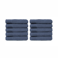 Handdoek - Denim - 50x100 cm - Set van 10