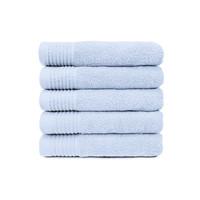 Handdoek - Licht blauw - 50x100 cm - Set van 5