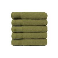 Handdoek - Olijf groen- 50x100 cm - Set van 5