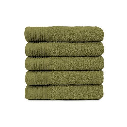 The One Towelling  Handdoek - Olijf groen- 50x100 cm - Set van 5