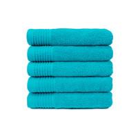 Handdoek - Turquoise - 50x100 cm - Set van 5