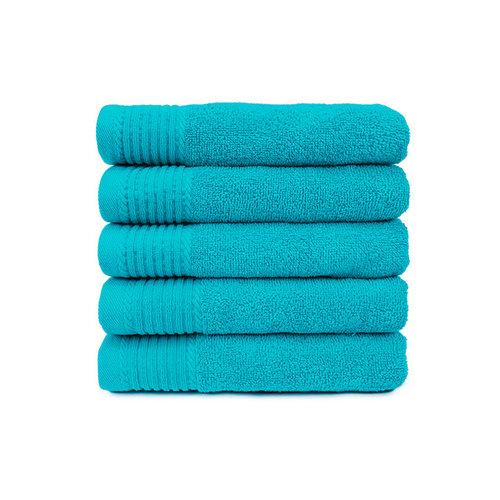 The One Towelling  Handdoek - Turquoise - 50x100 cm - Set van 5