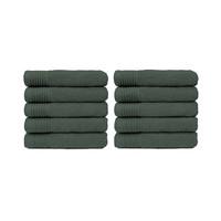 Handdoek - Antraciet - 50x100 cm - Set van 10
