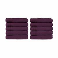 Handdoek - Aubergine - 50x100 cm - Set van 10