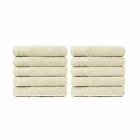 Handdoek - Crème - 50x100 cm - Set van 10