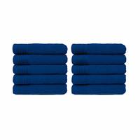 Handdoek - Kobalt blauw - 50x100 cm - Set van 10