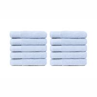 Handdoek - Licht blauw - 50x100 cm - Set van 10