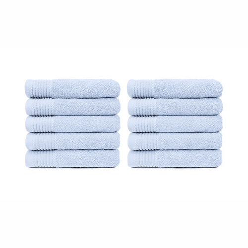 The One Towelling  Handdoek - Licht blauw - 50x100 cm - Set van 10