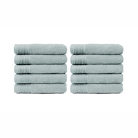 Handdoek - Licht grijs - 50x100 cm - Set van 10