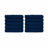 Handdoek - Navy blauw - 50x100 cm - Set van 10