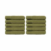 Handdoek - Olijf groen- 50x100 cm - Set van 10