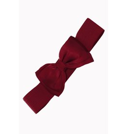 Banned Banned Bow Belt - bordeaux