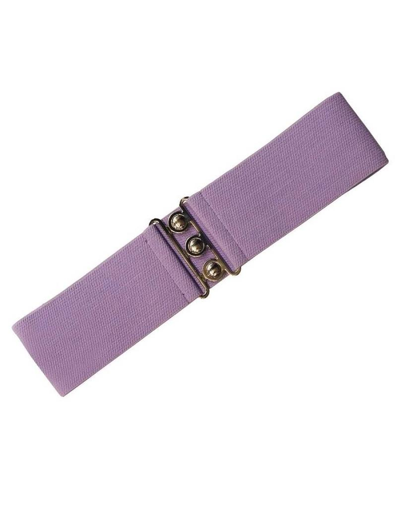 Hell Bunny Hell Bunny stretch belt - lavender