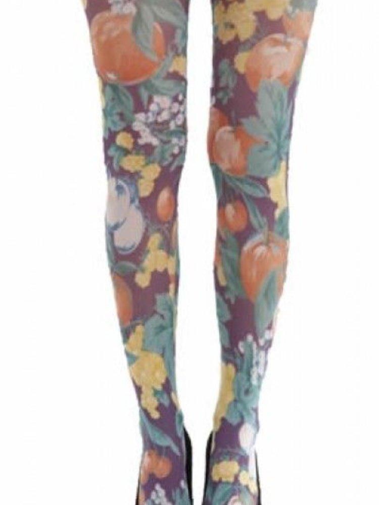 Pamela Mann Abstract fruit printed tights