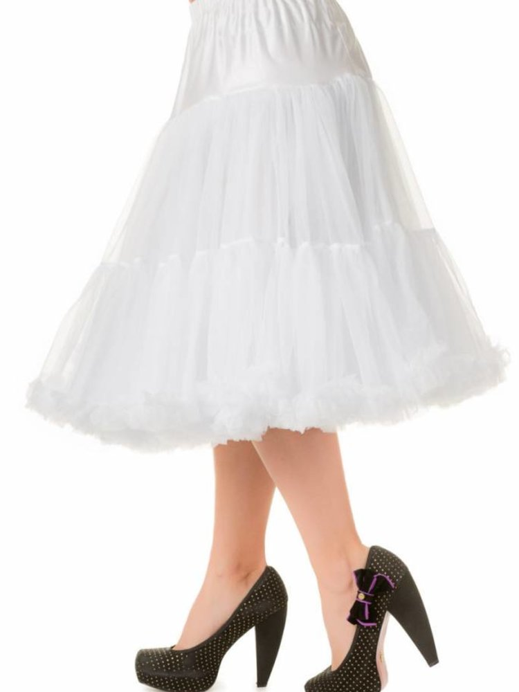 """Banned Banned Petticoat 26"""" white"""