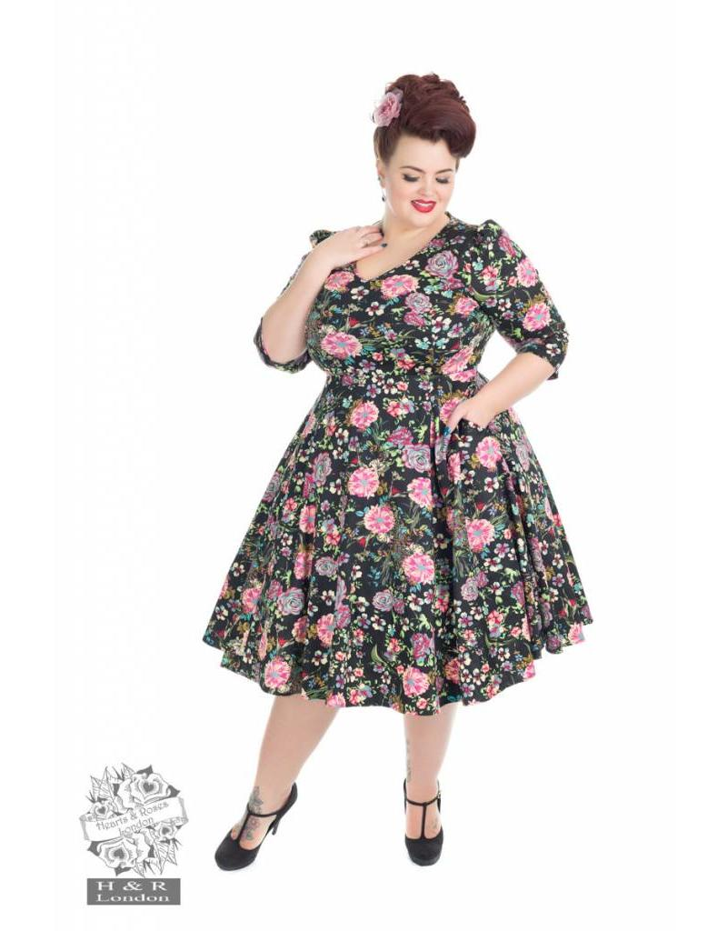 Hearts & Roses Romantic Bloom ¾ Sleeves Dress