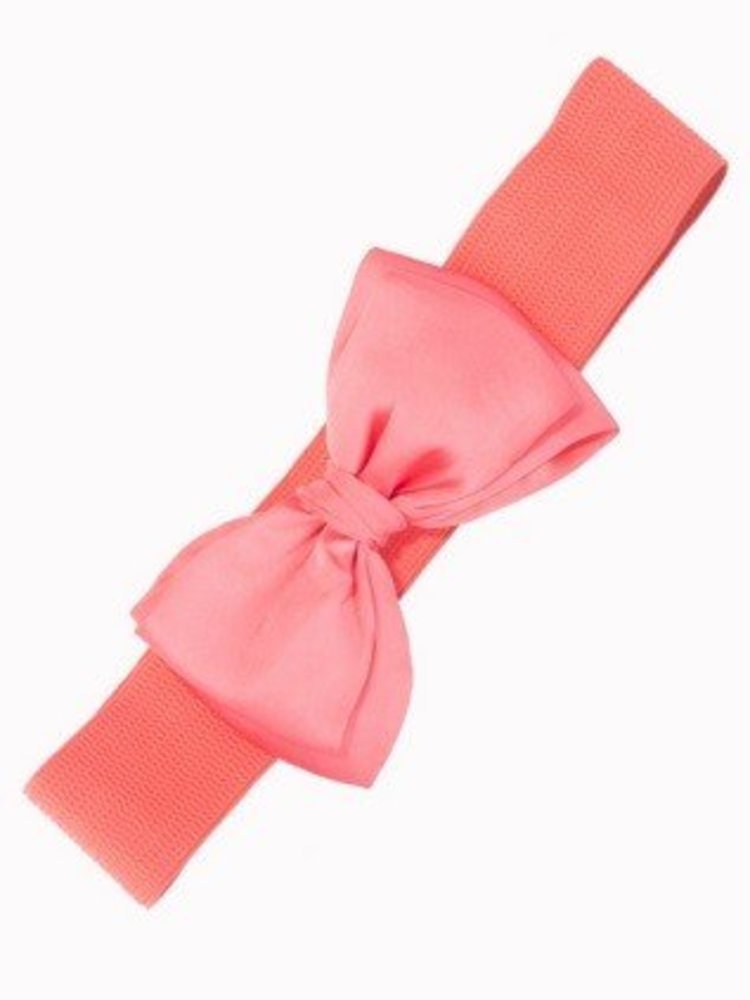 Banned Banned Bow Belt - pink