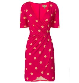 Lindy Bop 'Tanya' Pink Polka Dot Dress