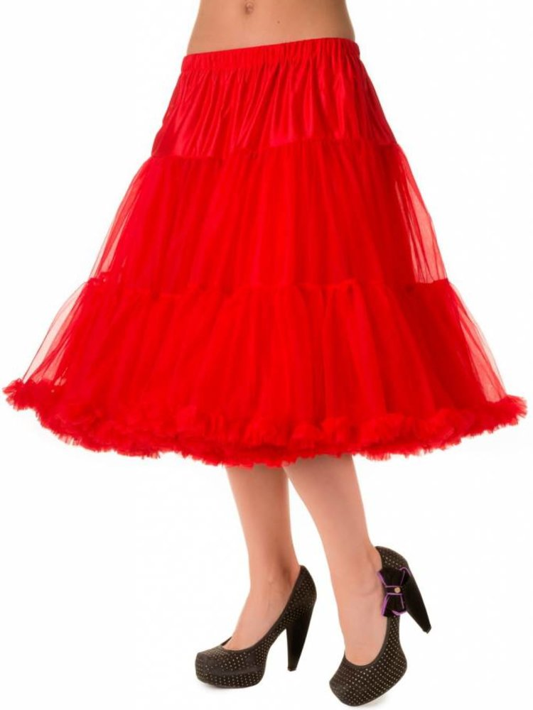 """Banned Banned Petticoat 26"""" Red"""