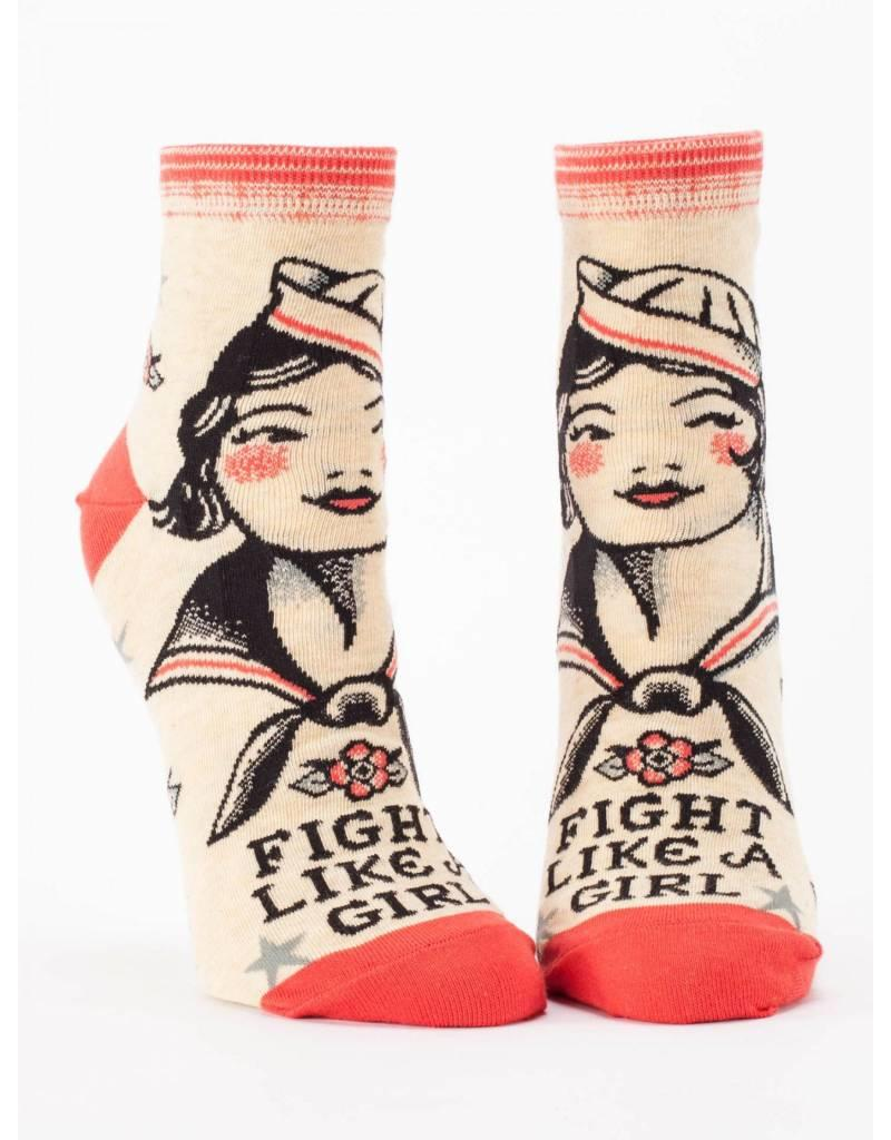 Blue Q Fight like a girl socks