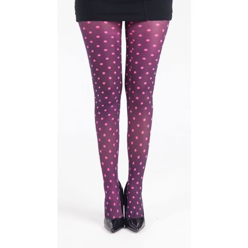 Pamela Mann Polka dot printed tights - pink