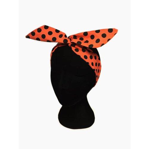 Polka dot hairwrap red/black