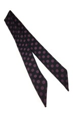 Polka  dot Hair wrap black-purple