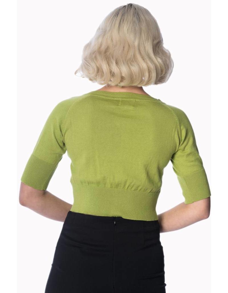 Banned Raven cardigan - moss green