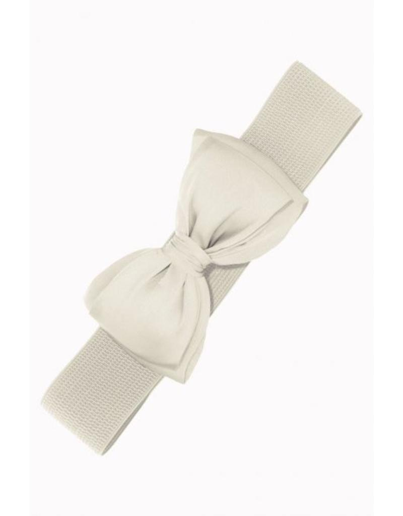 Banned Banned Bow Belt - white