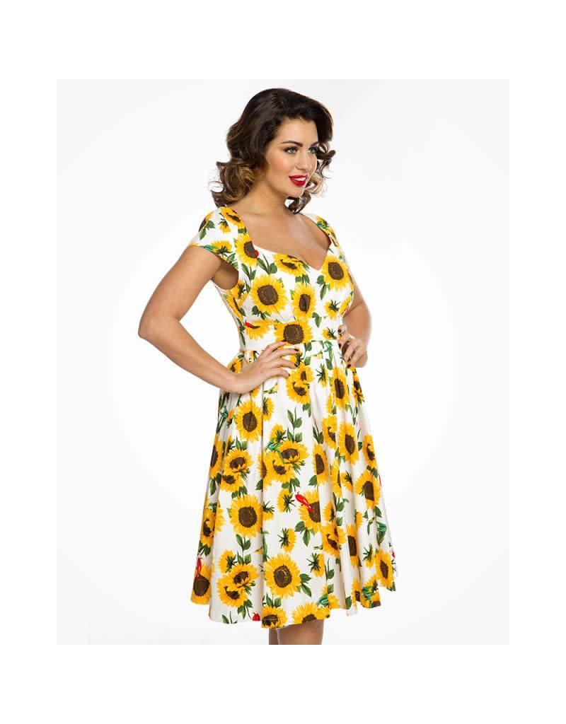Lindy Bop 'Charlene' Sunflower Dress