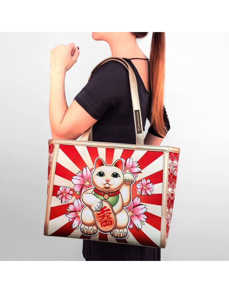 Hot Chocolate Chocolaticas Neko Tote Bag