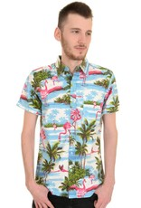 Run & Fly Hawaii Flamingo shirt short sleeves