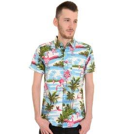 Run & Fly Hawaii Flamingo shirt met korte mouwen