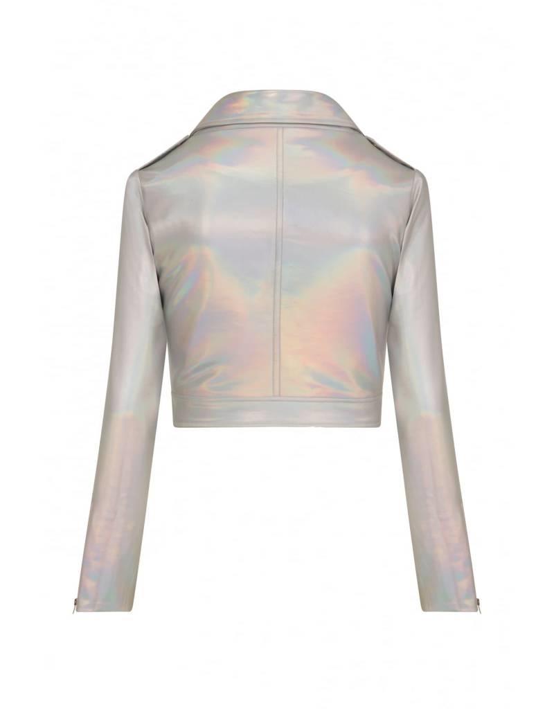 Collectif Holographic Biker Jacket