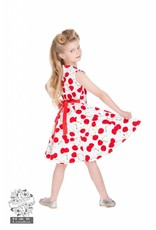 Hearts & Roses White Cherry dress