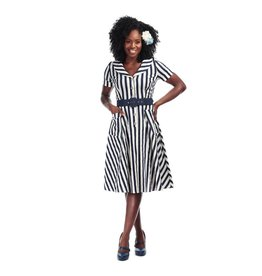 Collectif Brette Striped Swing Dress