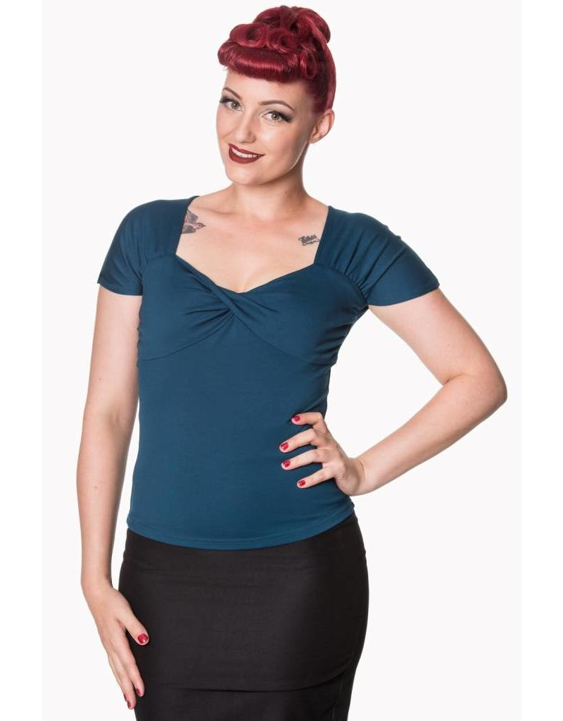 Banned She Who Dares Top - Teal