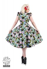 Hearts & Roses Black Marble Ball Floral Dress
