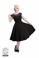 Hearts & Roses Black Mesh Lace Swing Dress