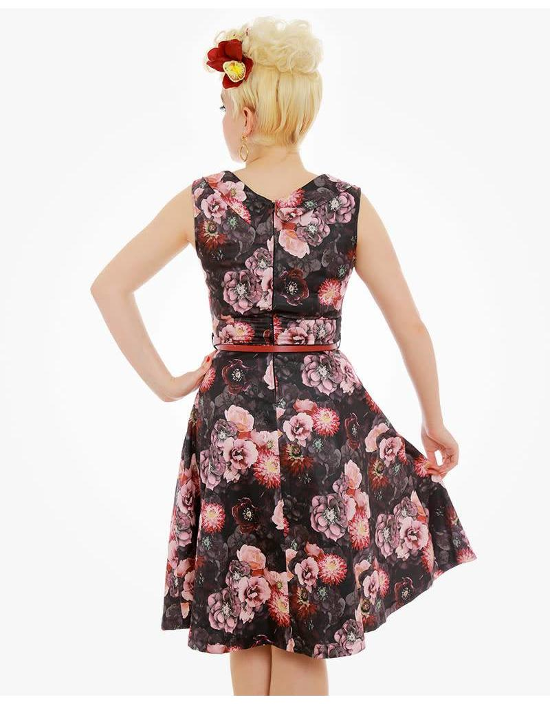 Lindy Bop 'Ophelia' Dusky Floral Print Swing Dress