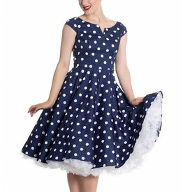 Hell Bunny Nicky 50's Dress in Navy