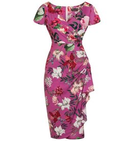 Lady V Elsie Dress - Balearic Garden