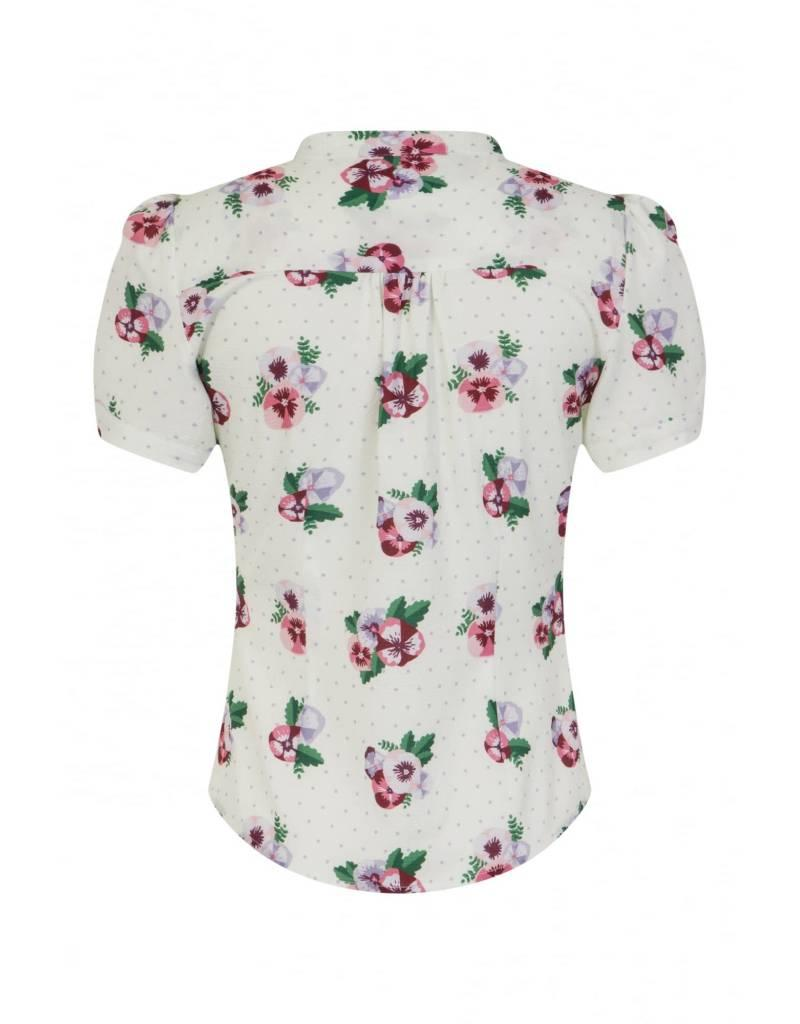 Collectif Tura Pansy Floral Blouse