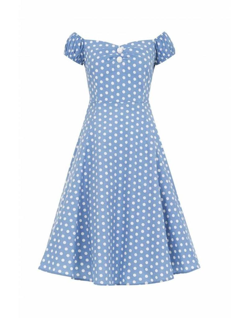 Collectif Dolores polka dot dress