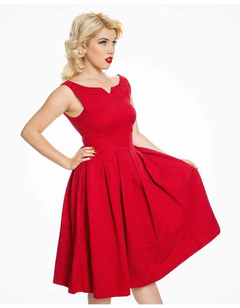 Lindy Bop 'Marianne' Red Swing Dress and Jacket Twin Set