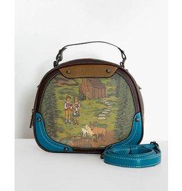 Lindy Bop 'Bowlea' Alpine Print Bowling Bag