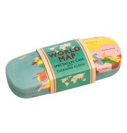 Rex London World Map Glasses Case